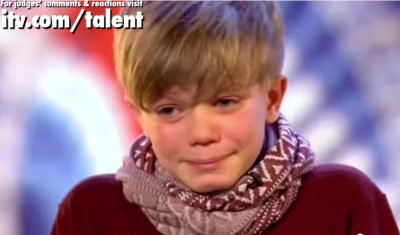 Ronan Parke, a little boy with a big voice. Judge said:You're a star. You've blown the roof off it..You're the best we've seen so far.""