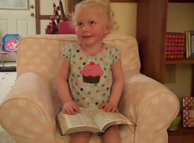 2-year-old cutest baby reciting Psalms 23. Must-watch how she pronounces LORD!