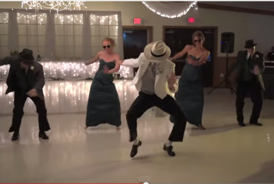 This wedding party wanted to give their guests a BIG surprise. Check it out