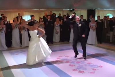 Bride and Father's Sweetest Wedding Dance Ever! Too Funny Not To Watch