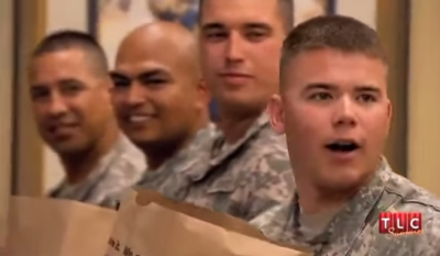These men help their fellow-soldier to make the unforgettable memory for his sweetheart! Must-see