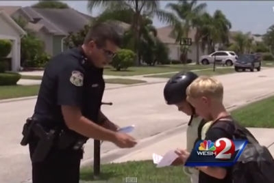 Police ticket children for good behavior