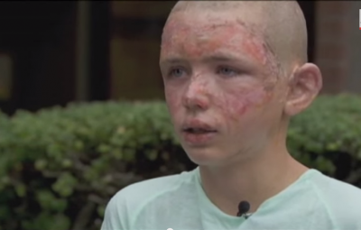 A Heroic Boy Saves His Grandmother From Her Burning Home