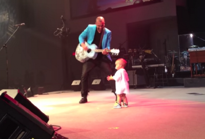 Adorable Baby Steals His Daddy's Concert. See How He Dances Like a PRO!