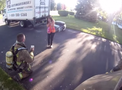 Firefighter Proposal Best Engagement Ever Will You Marry Me! Absolutely Incredible!