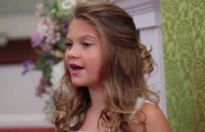 9-Year-Old Girl Singing Amazing Grace! You'll Feel God's Grace.