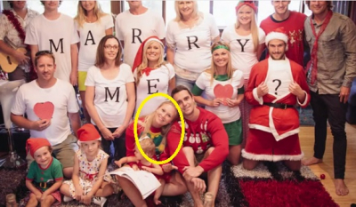 This girl doesn't yet know 'Merry Xmas family photo' will turn into a BIG surprise. Watch her sweet reaction!